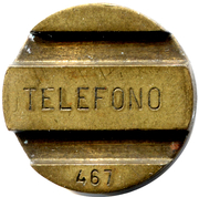 Telephone Token - ENTel (with numbers) – obverse