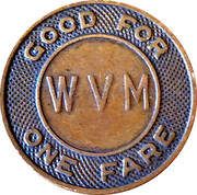 1 Fare - Wash. Va. & M.D. C. Co. Arnold Lines – reverse