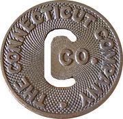 1 Fare - The Connecticut Company – obverse
