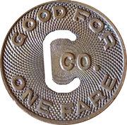 1 Fare - The Connecticut Company – reverse