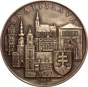 Medal - Ioannes Paulus II (Visit in Bratislava 1990) – reverse