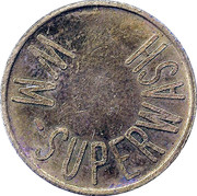 Car Wash Token - WM Superwash – obverse