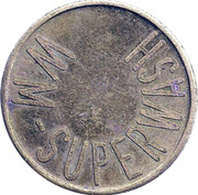 Car Wash Token - WM Superwash – reverse