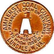1 Cent - Amherst Coal Company – obverse