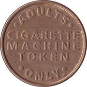 Vending Machine Token - Cigarette Machine Token – reverse