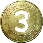 Bus Token - 3 Zones – obverse