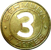Bus Token - 3 Zones – reverse
