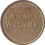 Parking Token - Canary Wharf London (25.5 mm) – reverse