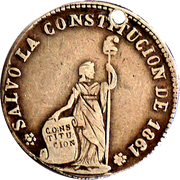 Token - To the constitution, Cochabamba – obverse