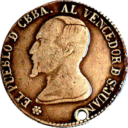 Token - To the constitution, Cochabamba – reverse