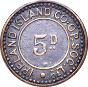 5 Pence - Ireland Island Co-op Society – obverse