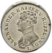 Counter Token - Alexander I (Barclay de Tolly) – obverse