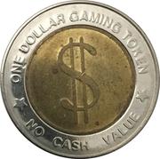 1 Dollar Gaming Token – reverse
