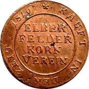 Brodmarke Elberfeld Korn Verein – reverse