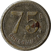75 Centimes - A Consommer (R.M.) – reverse