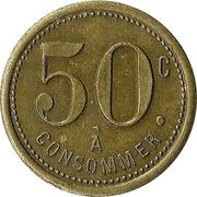 50 Centimes - R. M. – reverse