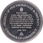 Commemorative Medallion - Vegreville, Alberta – obverse