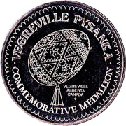 Commemorative Medallion - Vegreville, Alberta – reverse