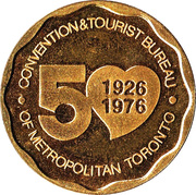 Medallion - Toronto, Ontario (Convention & Tourist Bureau) – reverse
