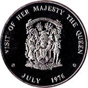Medallion - Elizabeth II (Royal Visit; Nova Scotia) – reverse