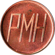 Parking Token - Peel Memorial Hospital (Brampton, Ontario) – reverse