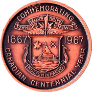 Medallion - Yellowknife, Northwest Territories (Canadian Centennial) – reverse