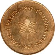 Medallion - Centennial of Canadian Confederation – reverse