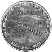 Token - Opening of The Port Mann Bridge 1964 – obverse