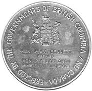 Token - Opening of The Port Mann Bridge 1964 – reverse