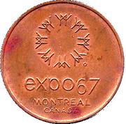 Token - Expo 67 Montreal (United States Pavilion) – reverse