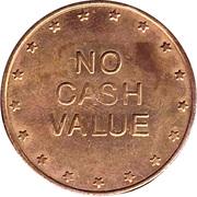 Cat Coin - No Cash Value (No denticles; 25 mm) – reverse