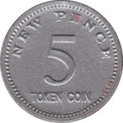 5 New Pence – obverse