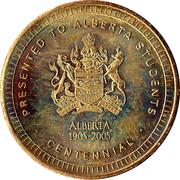 Medallion - Alberta Centennial – obverse