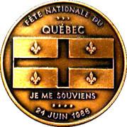 Medal - Nancy Huard (1986 24 June Quebec National Day) – obverse