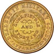 Civil War Merchant Token - B. Kittredge & Co Military Goods (Cincinnati, OH) – reverse
