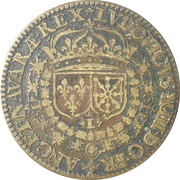 Token - Louis XIII (Ville d'Ameins) – obverse