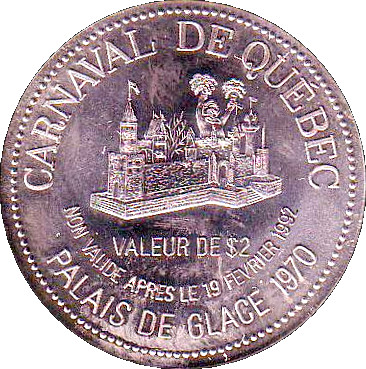 St Raymond QC CANADA 1842-1992 150-Anniversary $2 DOLLAR Trade Token with Church