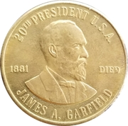 Token - James A. Garfield (20th President) – obverse