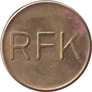 Supermarket deposit token - Pfand Marke RFK – obverse