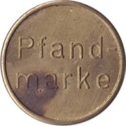 Supermarket deposit token - Pfandmarke WFL – reverse