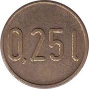 Supermarket deposit token - 0.25 L – obverse
