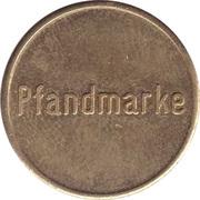 Supermarket deposit token - Pfandmarke STW. (Frankfurt) – reverse