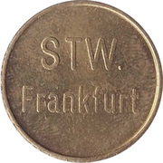 Supermarket deposit token - Pfandmarke STW. (Frankfurt) – obverse