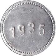 Supermarket deposit token - Flaschen Pfand (with number) – reverse