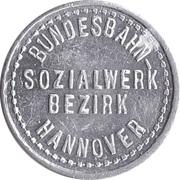 20 Pfennig Supermarket deposit token - Bundesbahn-Sozialwerk Bezirk (Hannover) – obverse