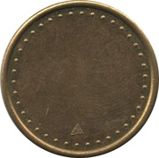 Coffee Machine Token (Blank with 38/42 beads and triangular mintmark; 21 mm) – obverse