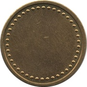 Coffee Machine Token (Blank with 38/42 beads and triangular mintmark; 21 mm) – reverse