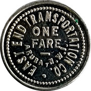1 Fare - East End Transportation Co. (Aruba, N.W.I.) – reverse