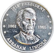 Token - Shell's Mr. President Coin Game (Abraham Lincoln) – obverse