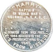 Token - Harry S. Truman – reverse
